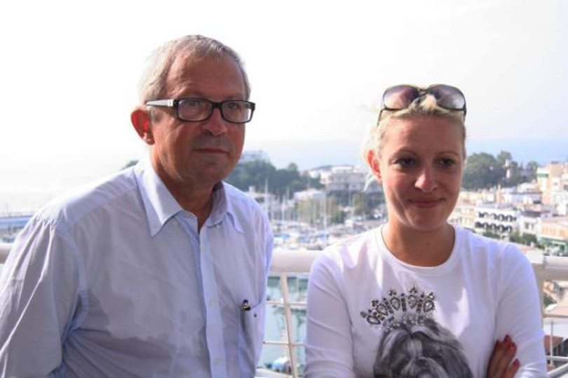 Ο Ιωσήφ Σηφάκης με τη σύζυγό του