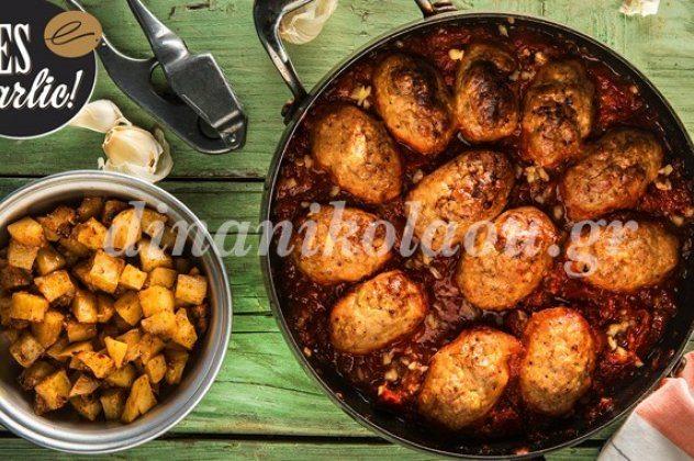 Απίθανα σουτζουκάκια κοτόπουλου με πατάτες καρέ σκορδοπαπρικάτες από τη Ντίνα Νικολάου