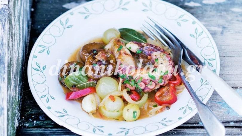Πεντανόστιμο, καλοκαιρινό, διαφορετικό χταπόδι στιφάδο με σύκα από την υπέροχη Ντίνα Νικολάου