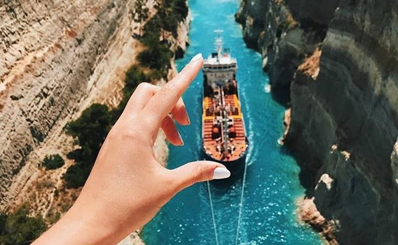Ισθμός Κορίνθου: Η ομορφιά της Ελλάδας σε ένα… άγγιγμα – Η φωτογραφία της ημέρας