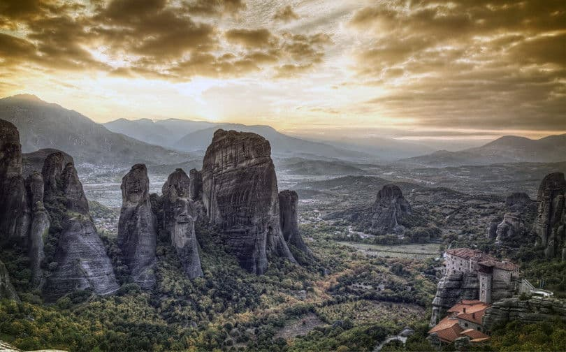Sky And The Rocks Of Meteora