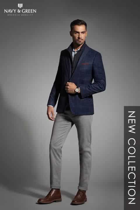 d0d67fe6d0c8 ... καλοραμμένα σακάκια και πλεκτά υψηλής ποιότητας για τις πιο επίσημες  εμφανίσεις είναι μερικές μόνο από τις προτάσεις της Navy   Green για τους  άντρες.