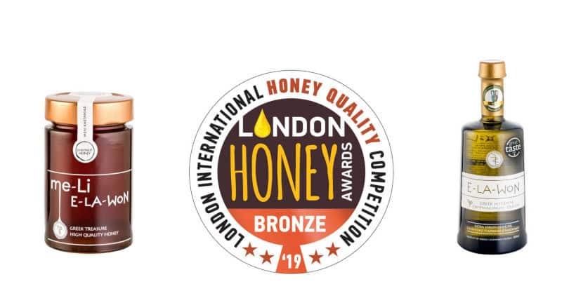 Σπουδαίες βραβεύσεις από την Αγγλία & την Πελοπόννησο για το μέλι & το Premium ελαιόλαδο της E-LA-WON