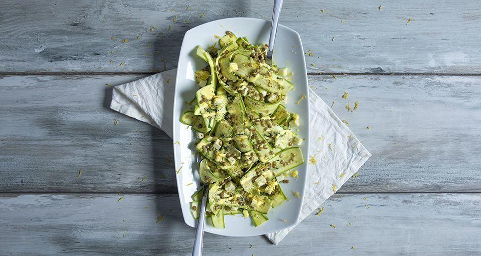 Recipe Main Salata Me Kolokithakia Kai Fakes 12 6 19 Site