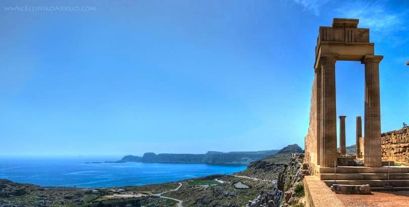 Doric Temple Athena Lindos. Rhodes Island