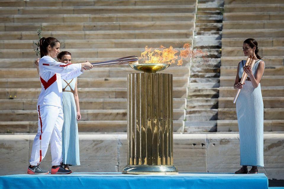 Φωτογραφίας ημέρας: Η τελετή παράδοσης της Ολυμπιακής Φλόγας στην Αθήνα/ Photo: ΜΑΡΚΟΣ ΧΟΥΖΟΥΡΗΣ / EUROKINISSI