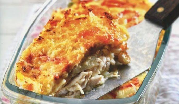 Πανεύκολη κοτόπιτα από την Αργυρώ Μπαρμπαρίγου- Χωρίς φύλλο, γρήγορη & πεντανόστιμη