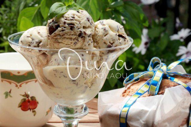 Σπιτικό παγωτό γιαούρτι στρατσιατέλα από τη Ντίνα Νικολάου