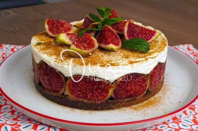 Cheesecake χωρίς ψήσιμο Ντίνα Νικολάου