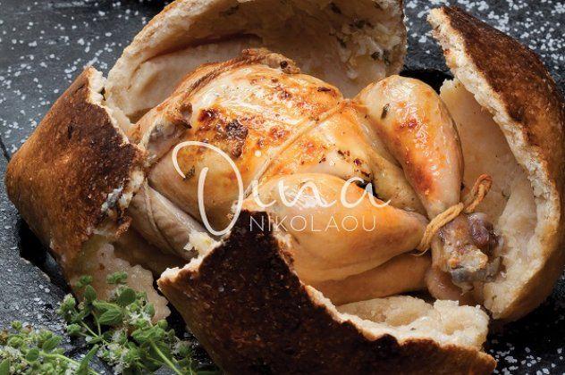 Κοτόπουλο σκορδάτο «φασκιωμένο» από τη Ντίνα Νικολάου