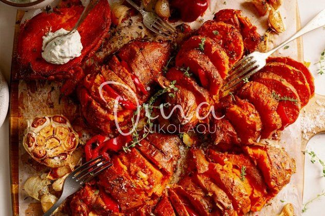 Ντίνα Νικολάου: Σκορδάτες γλυκοπατάτες με μέλι και μουστάρδα